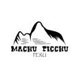Machu Picchu mountain of Peru design template vector image