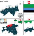 map of harju estonia vector image vector image