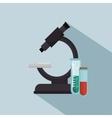 microscope test tube laboratory icons vector image