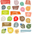 modern colorful badges collection vector image vector image