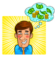 money thoughts vector image