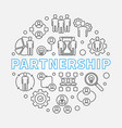partnership concept in thin vector image