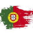 portugal scratched flag vector image vector image