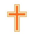 Religious cross symbol icon vector image