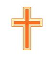 Religious cross symbol icon vector image vector image