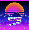 Retro futuristic background