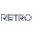 retro style word vector image vector image
