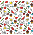 seamless pattern of fashionable patches Modern vector image vector image
