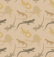Seamless pattern with lizards vector image vector image