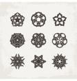 Set of ornate mandala symbols Mehndi lace vector image vector image