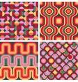 set seamless retro patterns vector image vector image