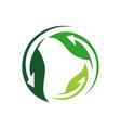 sign alternative renewable energy logo design vector image vector image