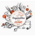 Sketch Label Organic Food vector image