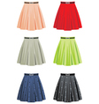 Skirts vector image