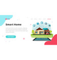 smart home house control technology or vector image vector image