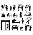 smokers smoking stick figure pictograph icons vector image vector image