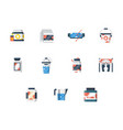 sport supplements flat color icons set vector image vector image