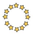 stars round emblem frame vector image vector image