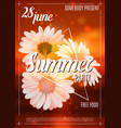 summer party poster template with flowers vector image vector image