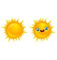 sun in kawaii style vector image
