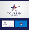 travel united states of america flag creative vector image