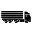 truck delivery line icon vector image