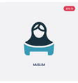 two color muslim icon from religion concept vector image vector image