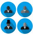 gentlemen silhouette logo style vector image