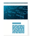 Pattern for brochure or cover with hex code vector image