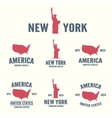 Collection of New York America USA icon or logo vector image