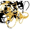 Abstract golden and black stains design element