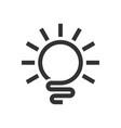 abstract light bulb line art logo symbol design vector image
