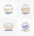 abstract rural farm signs badges or logo vector image vector image