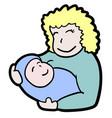 baby mother vector image