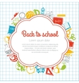 Back to school colorful background vector image