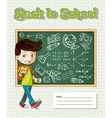 Back to school education cartoon kid vector image