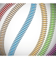 Background with colorful rails vector image vector image