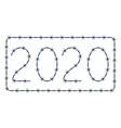 barbed wire 2020 lettering