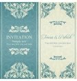Baroque invitation blue and beige vector image vector image