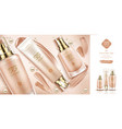 bb cream beauty cosmetics and smears foundation vector image vector image