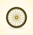 Bike Wheel vector image vector image
