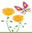 butterflies and flowers 7 vector image vector image