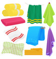 cartoon funny towels cloth cotton towel vector image vector image