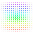 Caution shape halftone spectral pattern