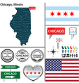 Chicago Illinois set vector image