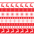 christmas ornament red vector image