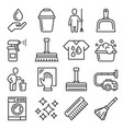 cleaning icons set on white background vector image vector image