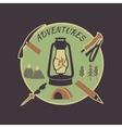 Colored vintage adventure label vector image vector image
