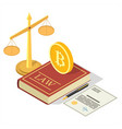 cryptocurrency legalization concept flat vector image vector image