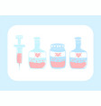cute love potion bottle and syringe abstract vector image